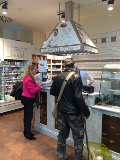 Inside Eataly Florence
