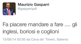 Maurizio Gasparri insults England on Twitter