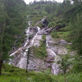 The Waterfall at the Gran Paradiso Camp site, Italy