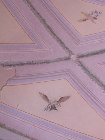 The restored Ceiling of the original room. Photo Jenny Mead