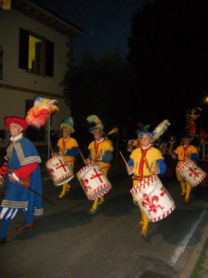 Medieval drummers Photo Jenny Mead