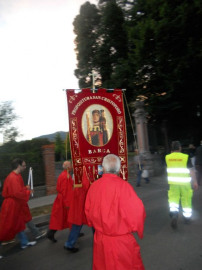 The banner of San Cristofero Photo Jenny Mead