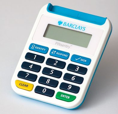 A Credit Card Reader or POS in Italian