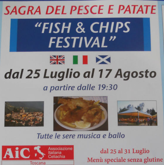 Fish chip festival in Tuscany