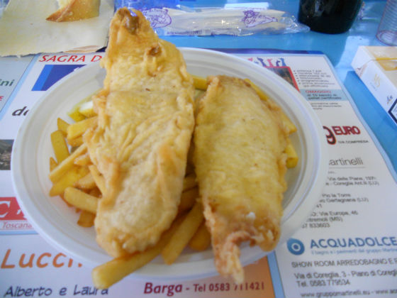 Fish and Chips in Italy