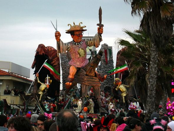 Viareggio is famous for its Carnival