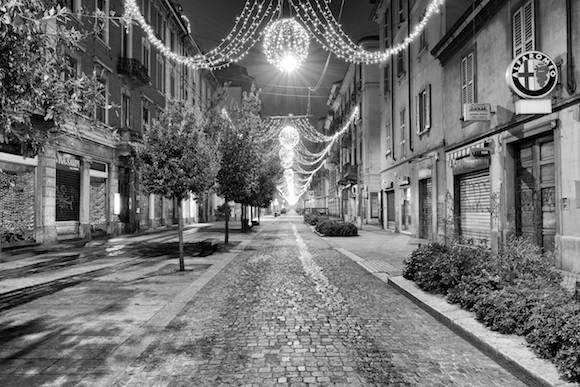 Via Paolo Sarpi In Milan At Christmas 2014
