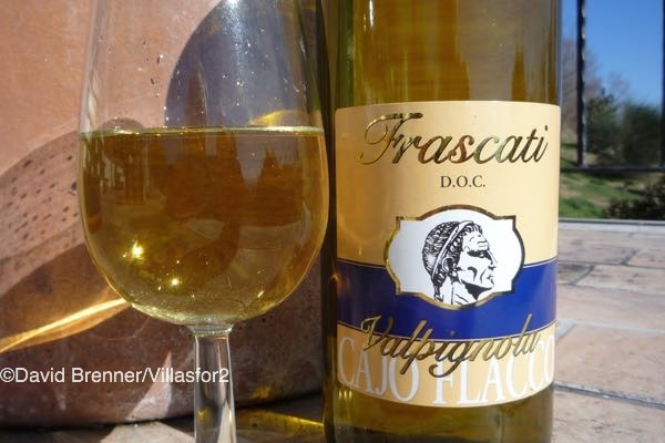 Frascati - the white wine of Ro.me. Sadly, not a great bottle