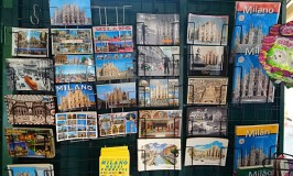 Postcards are easy to find in Italy, but not stamps