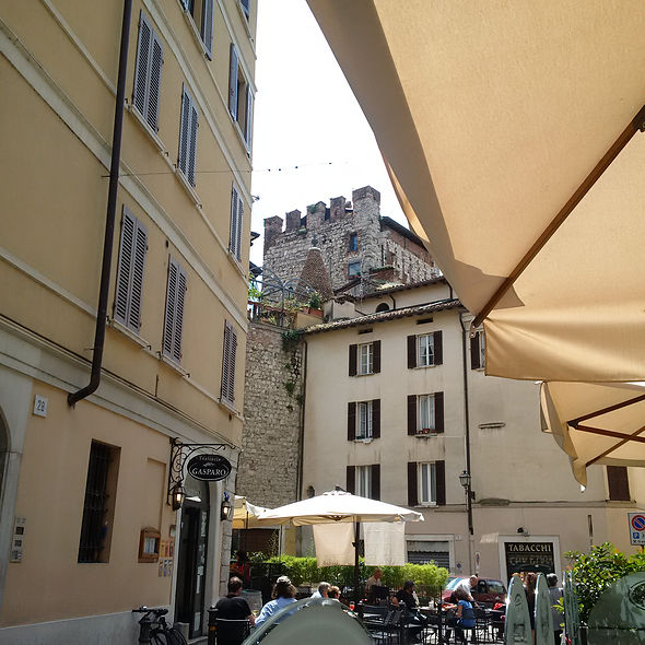 Brescia Lunchtime view from the Osteria al Bianchi