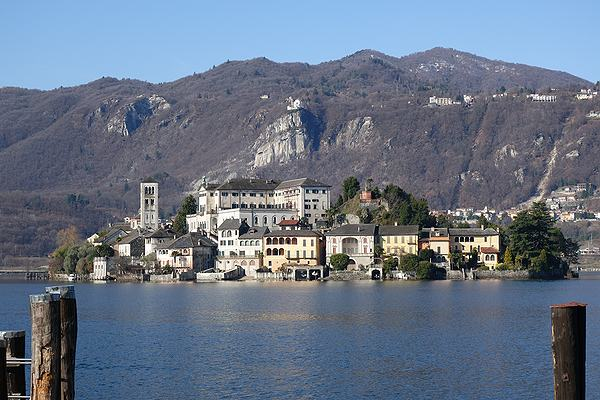 San Giulio Island Lake Orta Day