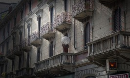 Photograph: Man with Globe in Milan