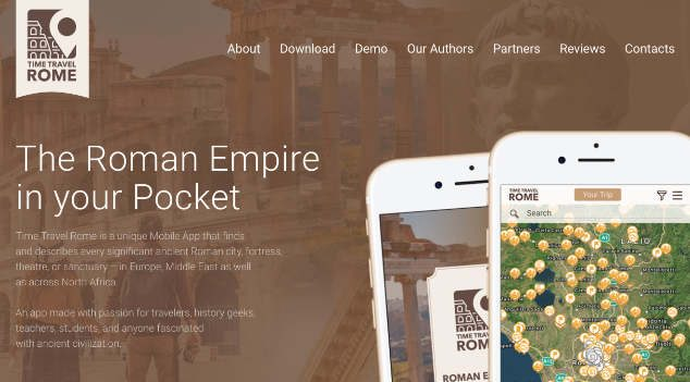 A Fascinating New App for Exploring Rome – Time Travel Rome